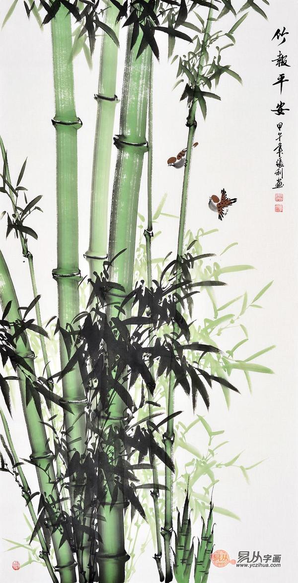 竹子色彩手绘稿