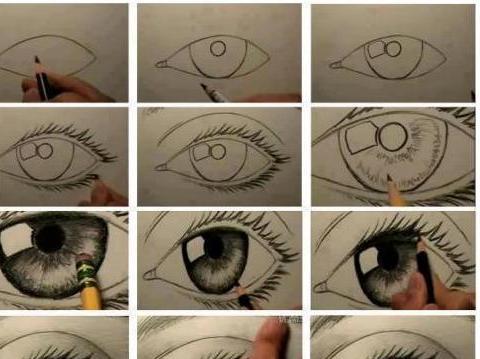 怎样画眼睛