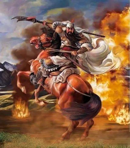 骑马关公:引申为马到成功,一般用于祝福送礼等.