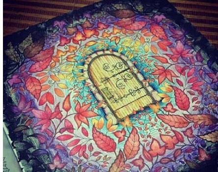 秘密花园涂色第一张_我的秘密花园涂色书模版参考_长翅膀的小羊