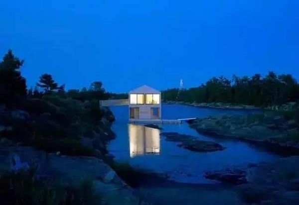 思越木结构|湖中漂浮的木屋,诗意与浪漫的化身!
