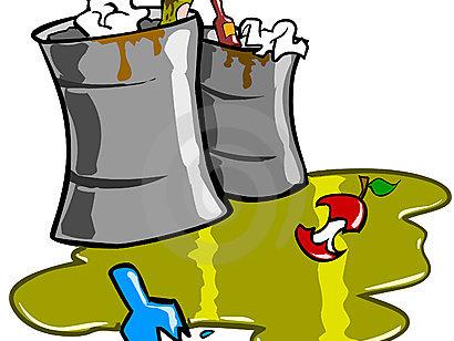 垃圾桶手绘漫画