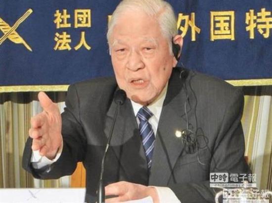 前台湾地区领导人李登辉对日感情深厚,上月再度受邀访日,并在东京日本外国特派员协会发表演讲。(图/中时资料照)