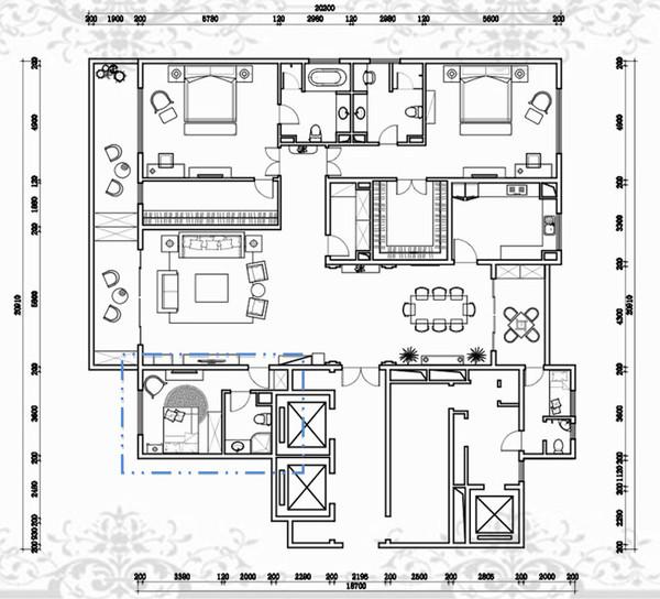 武汉国际别墅设计展之二万达公馆软装配饰案例图片