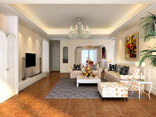 客厅地砖拼花效果图图片