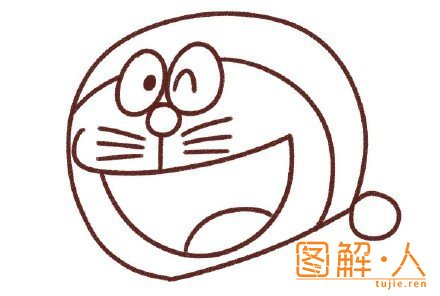 机器猫简笔画图解教程