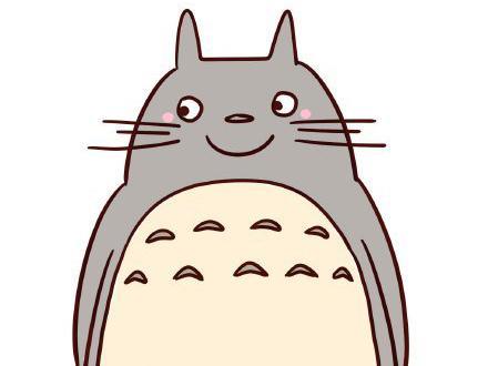 龙猫简笔画图解教程