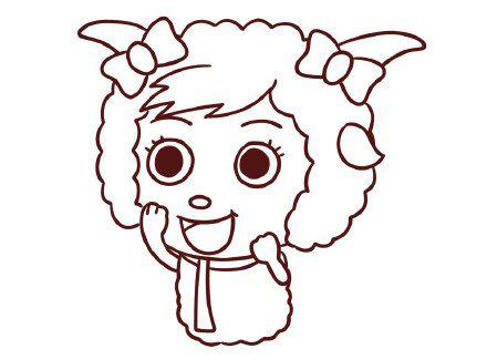 美羊羊简笔画图解教程