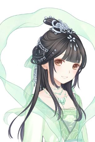 搭配古装还不错的 银饰后面的绿丝带 填了一份仙气 可能吧图片