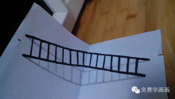 很不错哦!立体感很强,只是你的梯子上面的线画的不均匀,不平行哦.图片