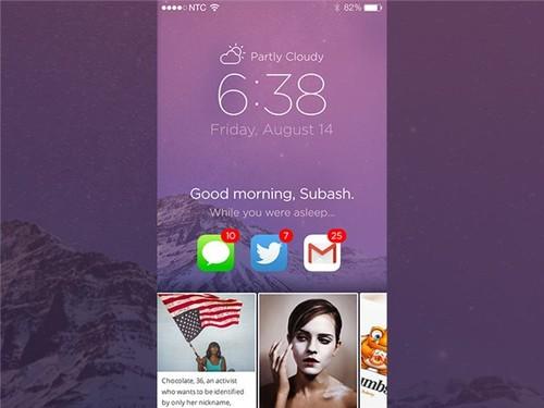 苹果前设计师眼中最理想的ios锁屏界面图片