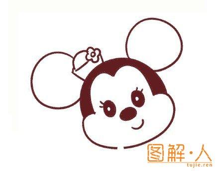 米老鼠米妮简笔画图解教程