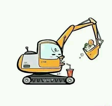 用挖掘机做头像