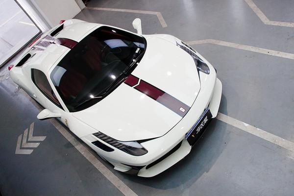 法拉利458局部跑道线装饰车身贴膜改色