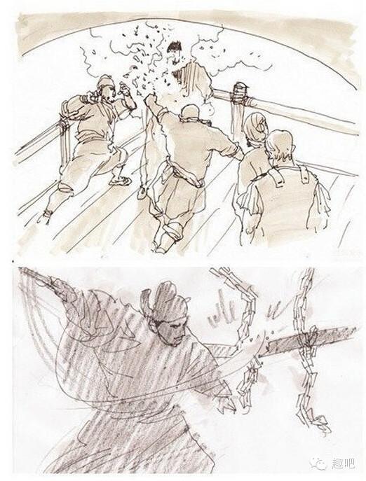 鬼才徐克也是当仁不让,拍《狄仁杰》拍出个漫画小能手,可见徐老爷也是