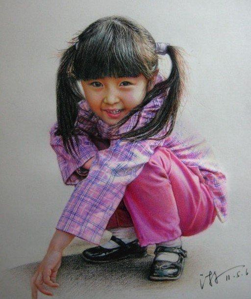 彩铅人物画