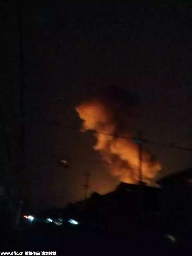 玻璃 淄博/淄博爆炸化工厂:村民房屋窗户玻璃被震碎天花板掉落3
