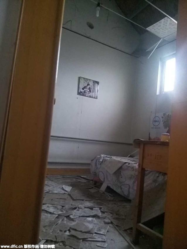 玻璃 淄博/淄博爆炸化工厂:村民房屋窗户玻璃被震碎天花板掉落6