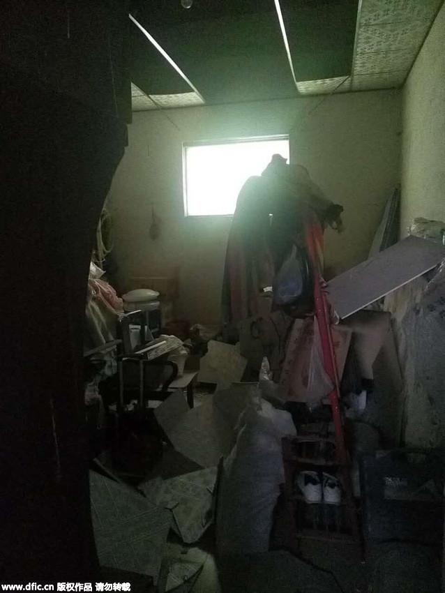 玻璃 淄博/淄博爆炸化工厂:村民房屋窗户玻璃被震碎天花板掉落7