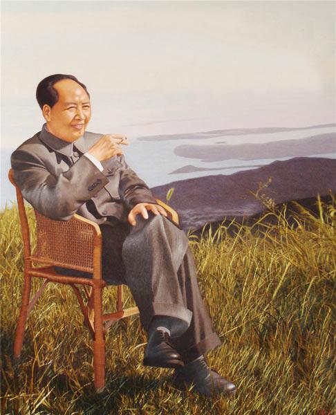 朱寿珍 刺绣作品《毛主席在庐山》