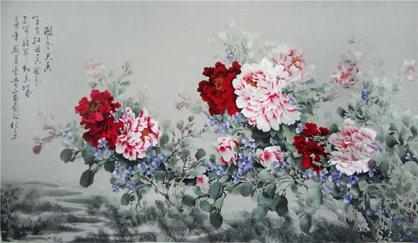 朱寿珍 刺绣作品《国色天香》2