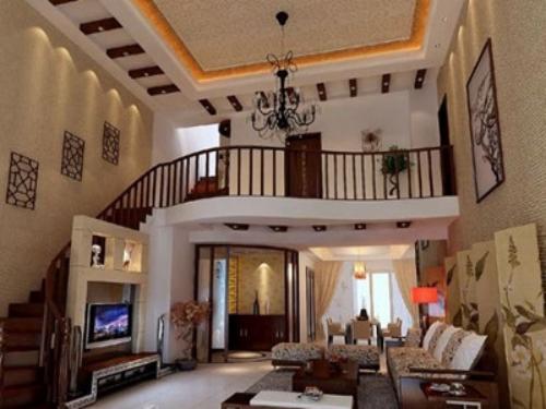 别墅装修设计细节8:客厅挑空过高,留意视觉感受的舒适度