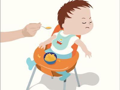 宝宝吃饭卡通