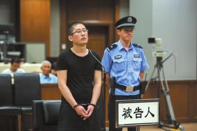 白龙在法庭上。京华时报记者蒲东峰摄