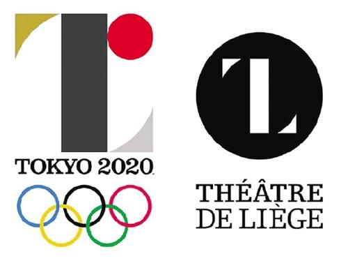 左为东京奥运会徽。