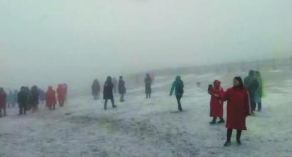长白山主峰昨天的雪景 长白山气象台供图