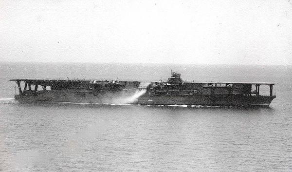 """资料图:旧日本帝国海军""""加贺""""号航空母舰"""