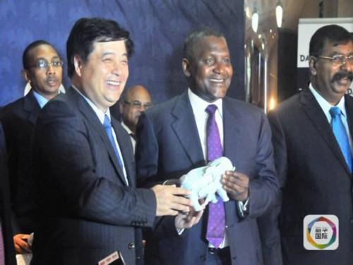 中国驻拉各斯总领馆副总领事李勇和签约国8个国家的大使馆和领事人员出席了签约仪式。