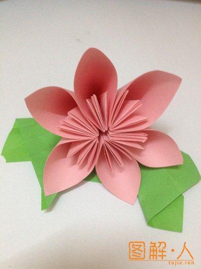 手工折纸樱花
