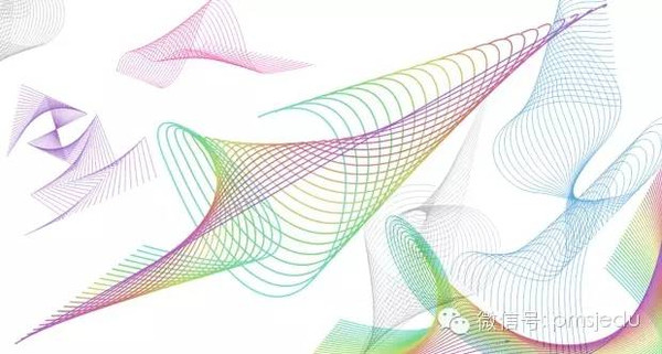 CDR教程 CorelDRAW 中的抽象直线形状