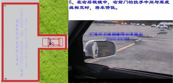 驾考科目二之倒车入库操作技巧详细图解图片