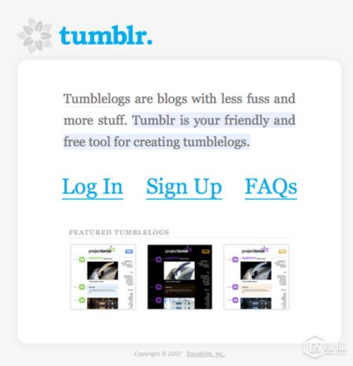 """今天,Karp将Tumblr的成功归功于它的""""更多东西""""这个愿景,比如照片和GIF动画等可视化元素,Tumblr将会继续关注于打造出他的团队喜欢使用的功能。"""
