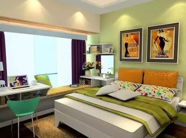 机智地在床位设计一张尺寸合适的书桌,懒人们住小房间的你们福利到!图片