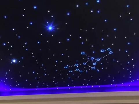 家庭影院星空顶欣赏 炫丽影音空间新元素