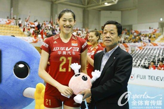 中国女排取得胜利