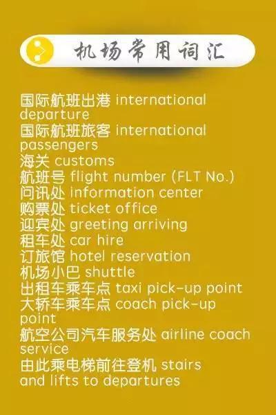 出国旅行必备英文get√去哪都不怕