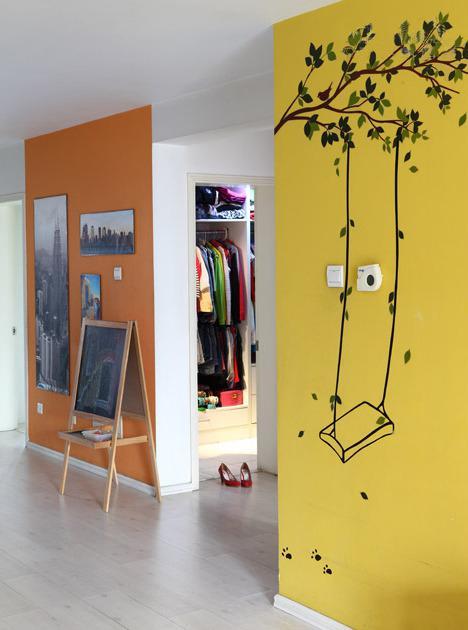 创意手绘墙,是不是比墙纸好看多了?