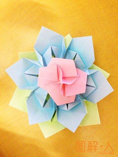 大纸花折纸图解教程