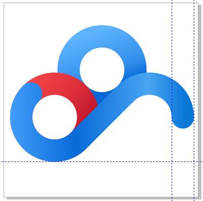 cdr教程 CorelDRAW绘制百度云logo
