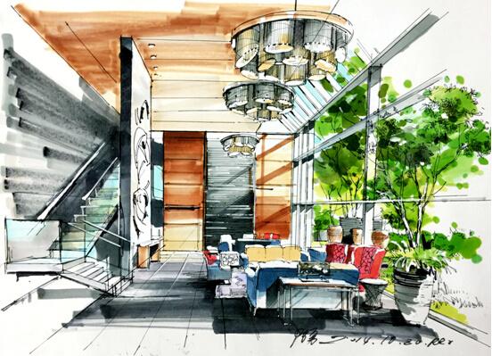 郑剑飞:中国新锐手绘设计艺术人,中国高级室内设计师,庐山艺术特训