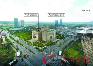 广铁法院选址暗示图。广州股票 记者杜鹃