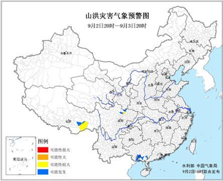 山洪预警:西藏四川局地发作山水灾祸能够性较大