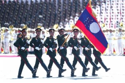 老挝代表队 新华社发