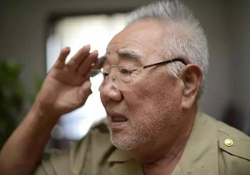 """87岁的抗战老兵李振华离休前曾任山西省军区副司令员,看到抗战老战士乘坐受阅车辆经过北京天安门广场时,李振华热泪盈眶,下意识地举起右手行军礼,并连连说道""""不容易""""。在老人的胸前,刚刚获赠的""""抗战胜利70周年纪念章""""尤其醒目。此外,一枚枚斑驳的勋章缀满前胸。李振华的女儿说,这些都是老人珍视的荣誉。"""