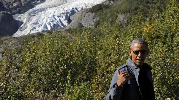 奥巴马表示,他希望在本次行程中,亲耳聆听阿拉斯加民众关切的事情。