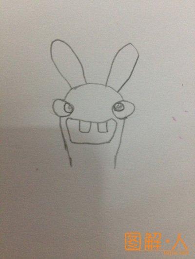 疯狂兔子简笔画图解教程